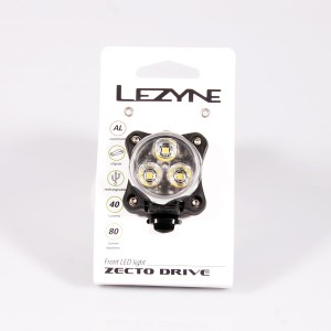 Lampka przednia Lezyne ZECTO DRIVE 80 lumenów, usb srebrna