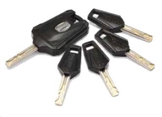 5 kluczy w zestawie zapięcia OnGuard