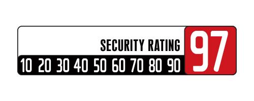 Skala bezpieczeństwa zapięcia 97/100