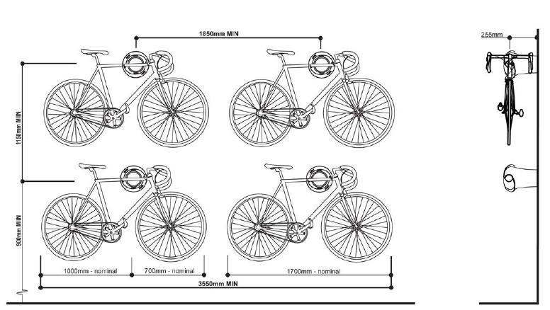 Instrukcja wieszania roweru szosowego.
