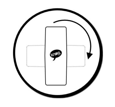Możliwość obrotu lampki Knog POP R