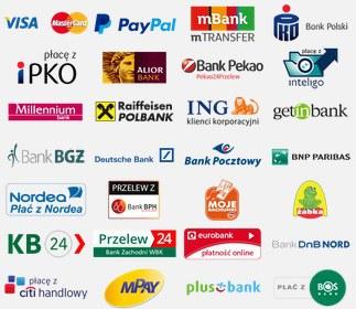 Płatności elektorniczne w sklepie rowerowym alltheway takie jak przelewy czy płatności kartą.