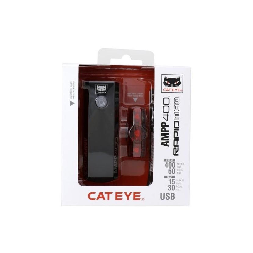 Zestaw CatEye AMPP 400 + Rapid micro