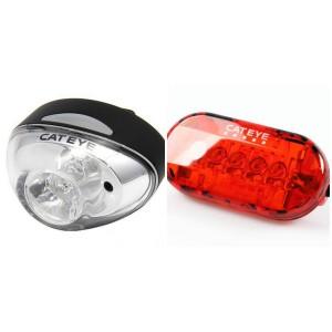 Zestaw lampek rowerowych CatEye Rapid 1 + Omni 5
