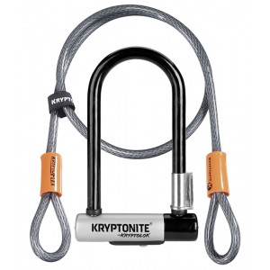 Zapięcie New U-lock Kryptonite KryptoLok Mini 7 + linka 10mm