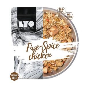 Liofilizowany kurczak 5 smaków z ryżem 370 g Lyofood