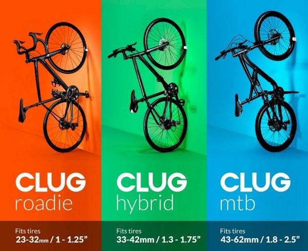 Clug rozmiary wieszaków z podziałem na szerokości opon