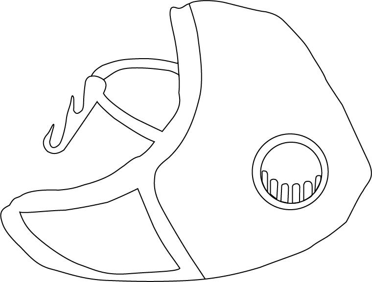 Maska Dragon Casual w pionie