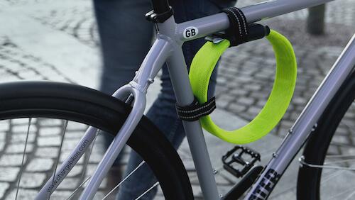 Przypięte zapięcie Litelok do ramy roweru