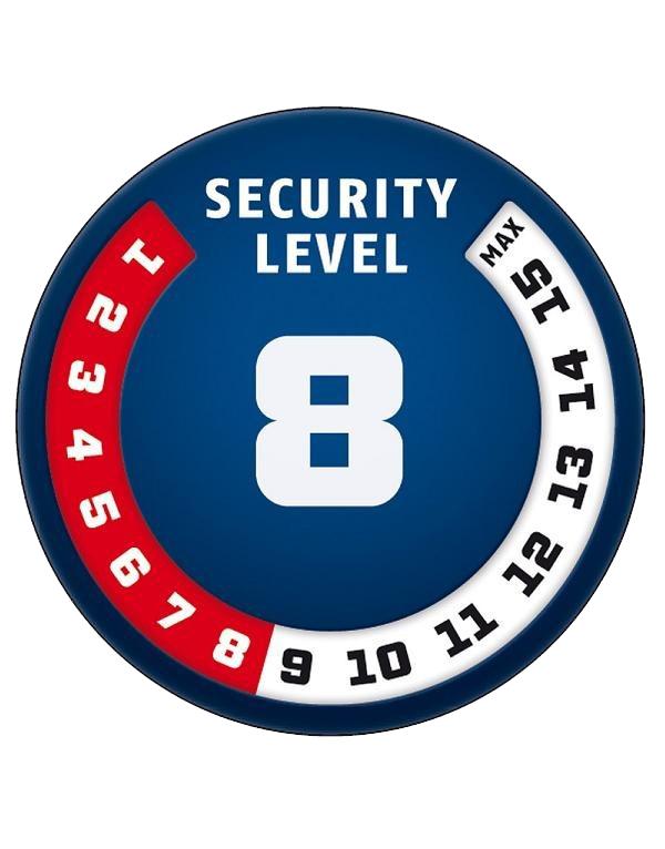 Skala bezpieczeństwa Abus - poziom 8