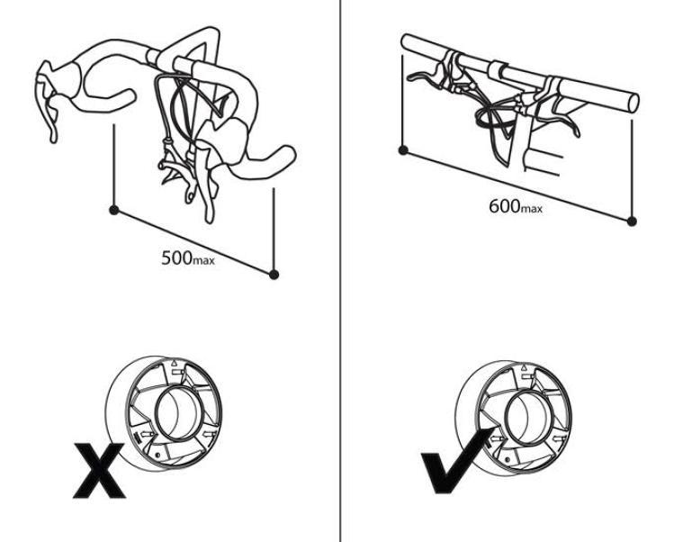 2 szerokości kierownicy bez lub z rozszerzeniem cycloc