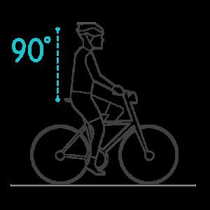 kąt pochylenia rowerzysty 90st na siodełku selle royal scientia
