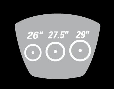 uniwersalny rozmiar koła do rowerów MTB Deflector lite