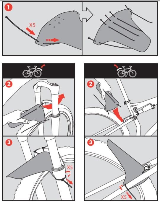 instrukcja montażu błotnika Zefal Deflector Lite M