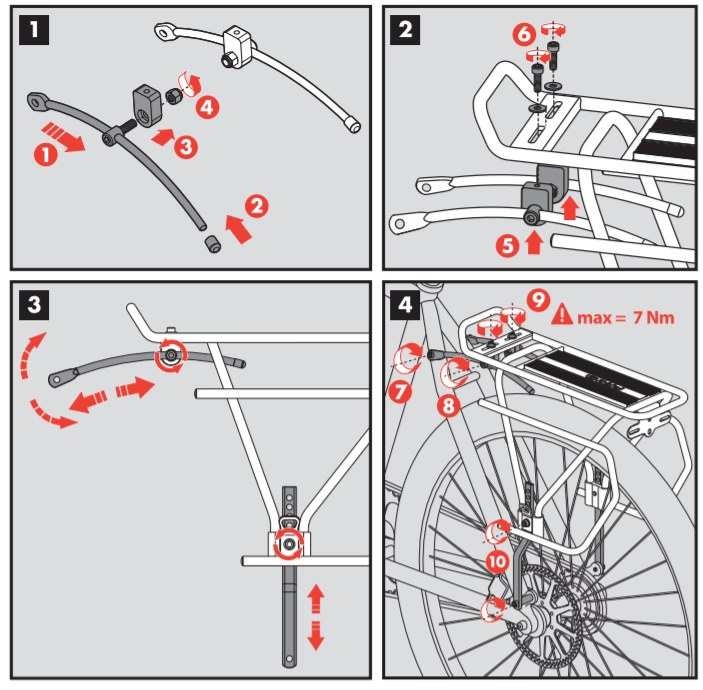 instrukcja bagażnika zefal Rider r70